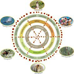 Nyungar Boodjar Seasonal Calendar (WA)
