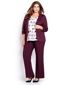 Meet Marsala.The new Pantone color of the year is warm, earthy & effortlessly chic for fall days & nights. Pant suit from Addition Elle Fall 2015 plus size fashion