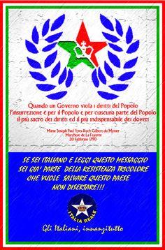 Manifesto Chiamata all'armi   ITALIA REALE - Stella e Corona