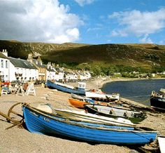 Ullapool, Scotland. My grandmother lived on this street until her passing. Beautiful landscape but very cold!