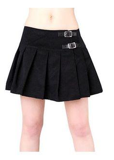Buckle Mini Cord Skirt - gothic skirts