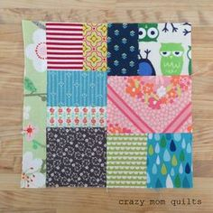 crazy mom quilts: scrap vortex QAL, week 2