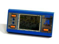 80s Retro Gakken LCD Game Watch Fishing Boy MIJ 1983 Great Condition_06 #Gakken
