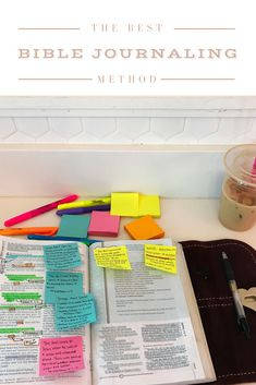 Bible journaling for beginners on how to brighten your bible!