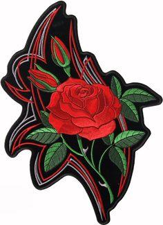 Mirror Rose patch - Aufnäher Spiegelrose - chevron Espejo Rose - нашивка Зеркальная роза
