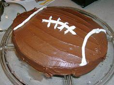 Football cake.... looks easy enough!