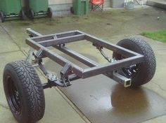 My Tub Trailer Build - Jeep Wrangler Forum Off Road Camper Trailer, Trailer Diy, Trailer Plans, Trailer Build, Camper Trailers, Campers, Small Trailer, Off Road Utility Trailer, Log Trailer