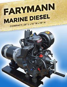 Farymann Marine Diesel Generator Price: $4,545 Electric Boat, Boat Engine, Build Your Own Boat, Combustion Engine, Generators, Boat Plans, Boat Building, Diesel, Bowrider