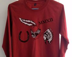 5sos Shirt Clothing Calum Hood Tattoo Crimson Red Women Tshirt Tee Long Sleeve T-Shirt SMLXLXXL