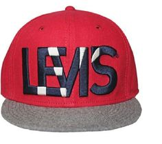 Levi's Embroidered Ball cap red gray men's one size NEW  19.99 http://www.ebay.com/itm/Levis-Embroidered-Ball-cap-red-gray-mens-one-size-NEW-/261433119667?ssPageName=STRK:MESE:IT