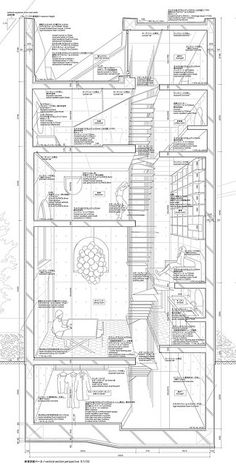 atelier bow wow, section through house tower 2006 posted by Yusun Kwon on flickr