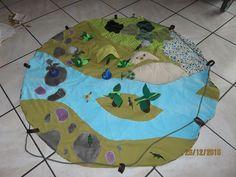 La souris dodue: Ile aux dinos tapis de jeu pour dinosaures