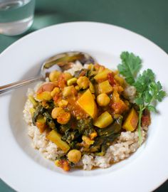 Swiss Chard and Chickpea Curry