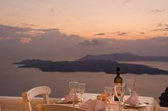 Table for two... Moments of everlasting romance at Caldera Restaurant - Volcano View Hotel Santorini