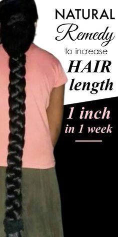 How to increase hair length 1 inch in 1 week, Diy Abschnitt, Long Hair Tips, Grow Long Hair, Beauty Tips For Hair, Grow Hair, Hair Mask For Growth, Natural Hair Growth, How To Grow Your Hair Faster, How To Make Hair, How To Long Hair