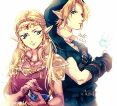 The Legend of Zelda - Link and Zelda. I totally ship them in Ocarina of Time.