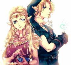 The Legend of Zelda - Link and Zelda.