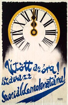 The clock has struck! Vote for Social Democrats!, 1922