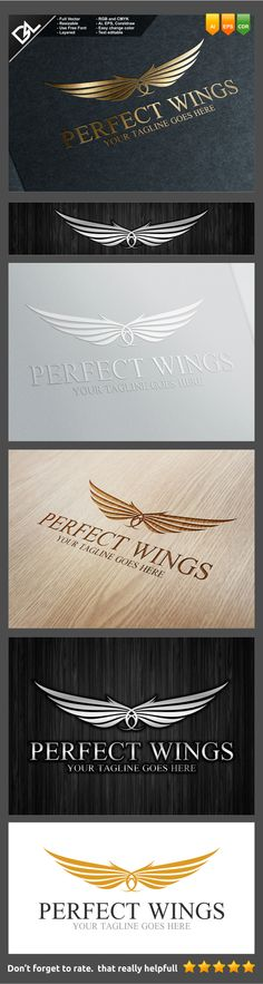Perfect Wings Logo Template on Behance