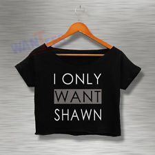 Magcon Crop Top Tee Shawn Mendes Shirt Tshirt Womens Adults Croptee croptees