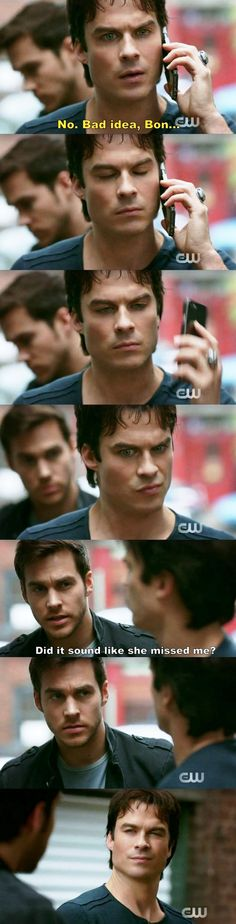 TVD Damon and Kai 8x13 the two hottest guys on the show