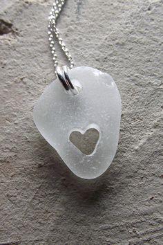 sea glass #sea #glass #seaglass #jewelry #heart