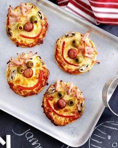 Pizza maken met kinderen? Maak deze grappige pizzagezichtjes!