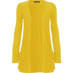 WearAll Delora Long Sleeve Pocket Cardigan ($12) ❤ liked on Polyvore featuring tops, cardigans, jackets, lullabies, outerwear, yellow, yellow cardigan, long sleeve cardigan, yellow top and pocket tops