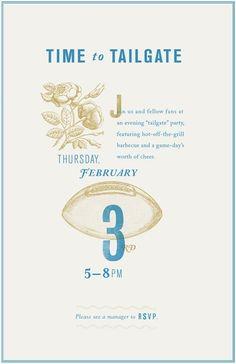 Invitation / tailgating poster - Danielle Kroll