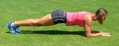 The best exercise for a strong core. Note the alignment for back protection and core strengthening