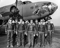 B-17 Man O War and crew, 323BS, 91BG
