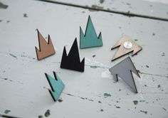R/H for FLOW - Mountain Earrings
