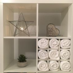 Wine rack insert for Ikea Kallax / Expedit storage cube unit in white Built In Bathroom Storage, Wood Storage Box, Hallway Storage, Towel Storage, Cupboard Storage, Cube Storage, Diy Storage, Storage Shelves, Shelving