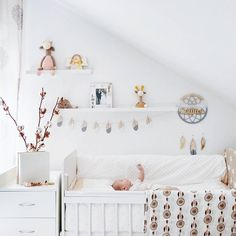 Nursery, baby room, minimalistic, scandinavian interior, white nursery Grey gradient dreamcatcher, name plague Instagram.com/little.chief