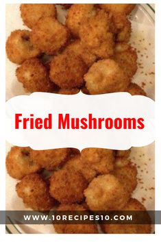 Fried mushrooms are made by frying or deep frying mushrooms that have been dipp… - mushroom recipes Battered Mushrooms, Deep Fried Mushrooms, Breaded Mushrooms, Stuffed Mushrooms, White Mushrooms, Fried Mushroom Recipes, Mushroom Appetizers, Veggie Recipes, Cooking Recipes