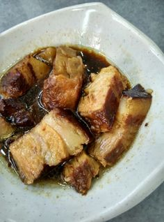 Braised belly pork