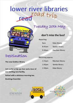 Lower river libraries bus trip, Clarence Valley.
