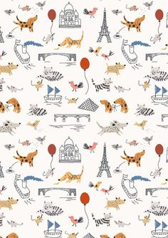 Little Cube, the brainchild of Paris-based illustrator and designer Sarah Betts is about playful wallpaper and other textiles for children and their dreams