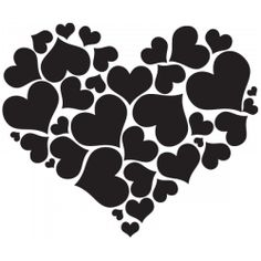 Sticker Coeur de coeurs
