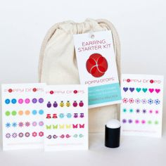 Poppy Drops for Girls: Poppy Drops for Little Girls, Made in the USA, too! These temporary earrings make a great gift for little girls and tweens!