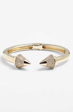 Pave spike skinny cuff bracelet: Perfect balance of edgy and pretty.