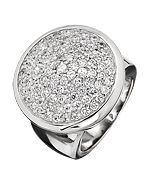 Giorgio Martello Milano Large Round Radiance Cocktail Ring