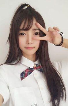 Sweet Girls, Cute Girls, Cool Girl, Cute Kawaii Girl, School Girl Dress, Japan Girl, Girl Inspiration, Pretty Eyes, Sexy Asian Girls