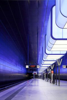 """HafenCity Universität"" is one of two metro stations of Hamburg's new subway route ""U4"", photo © Thomas Edelmann"