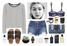 """""""Shore thing"""" by sophiehackett ❤ liked on Polyvore featuring MANGO, Topshop, Billabong, Bobbi Brown Cosmetics, Home Essentials, Marc Jacobs, Bumble and bumble, Simone Perele, STELLA McCARTNEY and Rituals"""