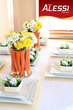 Dica para decorar a mesa no almoço no domingo de Páscoa.