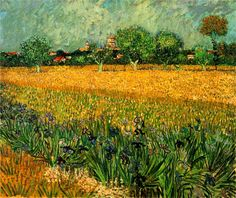 View of Arles with Irises in the Foreground, 1888  Vincent van Gogh