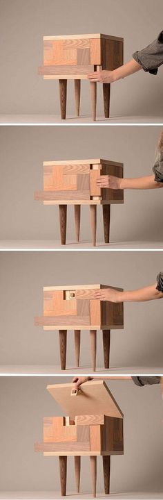 That is so cool! You have to know how to move the blocks to open the box :O