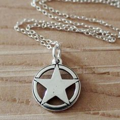 Texas Star Necklace 925 Sterling Silver Texas State Star New Cowboy West