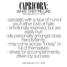 What Capricorns are like, Zodiac